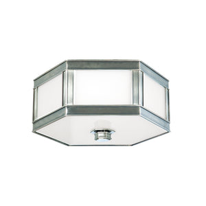 Nassau 2 Light Flush Mount By Hudson Valley 6413-HN in Historic Nickel Finish