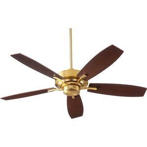 Soho Ceiling Fan in Aged Brass Finish 64525-80