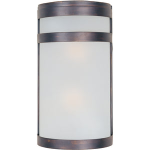 Maxim Lighting 65002FTOI Arc 2-Light LED Outdoor Wall Lantern in Oil Rubbed Bronze Finish