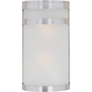Maxim Lighting 65002FTSST Arc 2-Light LED Outdoor Wall Lantern in Stainless Steel Finish