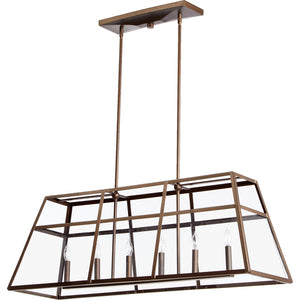 Kaufmann 6 Light Island Light in Oiled Bronze Finish 6504-6-86