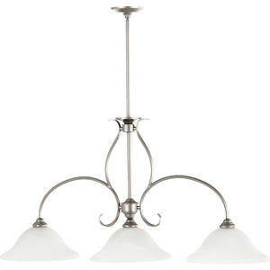 Spencer 3 Light Island Light in Classic Nickel Finish 6510-3-64