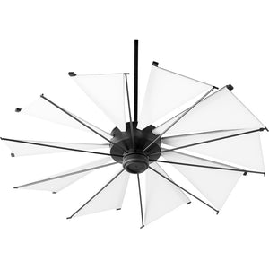 Mykonos Ceiling Fan in Noir Finish 65210-69