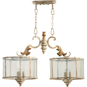 Florence 6 Light Island Light in Persian White Finish 6537-6-70