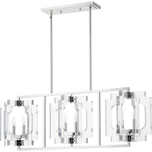 Broadway 6 Light Island Light in Polished Nickel Finish 655-6-62
