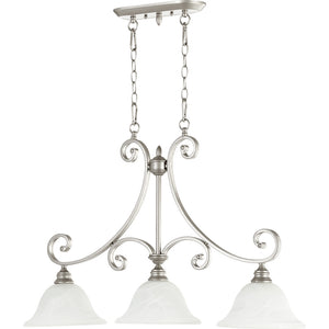 Bryant 3 Light Island Light in Classic Nickel Finish 6554-3-64