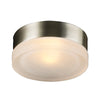 PLC Lighting 6571 SN Metz Collection 1 Light Wall/Ceiling in Satin Nickel Finish