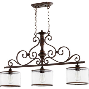 San Miguel 3 Light Island Light in Vintage Copper Finish 6573-3-39