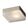 PLC Lighting 6573 SN Praha Collection 1 Light Wall/Ceiling in Satin Nickel Finish