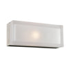 PLC Lighting 6577SNLED Praha Collection 1 Light Sconce in Satin Nickel Finish