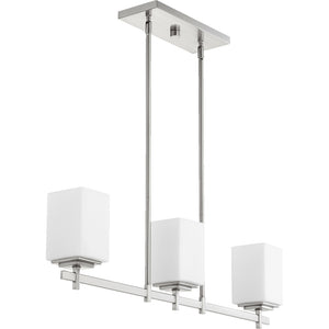 Delta 3 Light Island Light in Satin Nickel Finish 6584-3-65