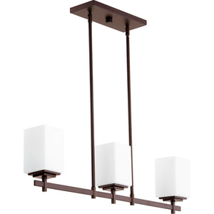 Delta 3 Light Island Light in Oiled Bronze Finish 6584-3-86