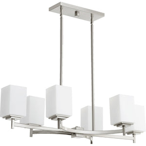Delta 6 Light Island Light in Satin Nickel Finish 6584-6-65