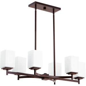Delta 6 Light Island Light in Oiled Bronze Finish 6584-6-86