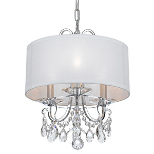 Crystorama 6623-CH-CL-MWP Othello 3 Light Clear Crystal Polished Chrome Mini Chandelier