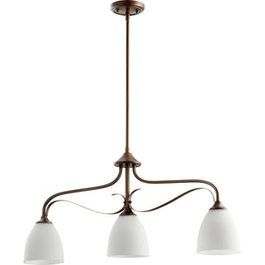Jardin 3 Light Island Light in Oiled Bronze Finish 6627-3-86