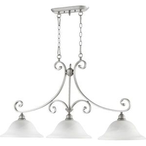 Bryant 3 Light Island Light in Classic Nickel Finish 6654-3-64