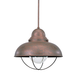 Sebring 1 Light Outdoor Lighting in Weathered Copper Finish by Sea Gull 6658-44
