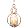 Crystorama 6760-DT Garland 3 Light Crystal Bead Mini Chandelier
