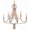 Crystorama 6768-DT Garland 8 Light Crystal Bead Chandelier