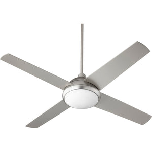 Quest 1 Light Ceiling Fan in Satin Nickel Finish 68524-65