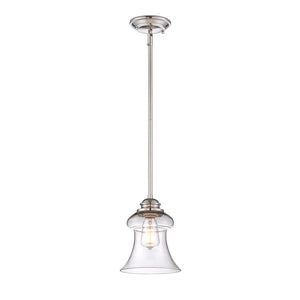 Vintage Pendant 1 Light Mini Pendant  in Polished Nickel Finish by Savoy House 7-4132-1-109