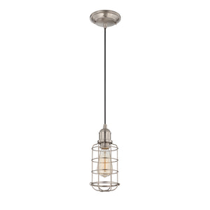 Vintage Pendant 1 Light Mini Pendant  in Satin Nickel Finish by Savoy House 7-4133-1-SN