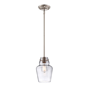Vintage Pendant 1 Light Mini Pendant  in Satin Nickel Finish by Savoy House 7-4134-1-SN