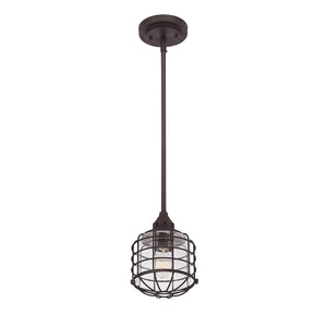 Connell 1 Light Mini Pendant  in English Bronze Finish by Savoy House 7-576-1-13