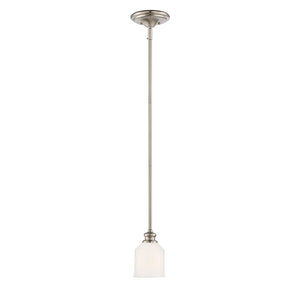 Melrose 1 Light Mini Pendant  in Satin Nickel Finish by Savoy House 7-6834-1-SN