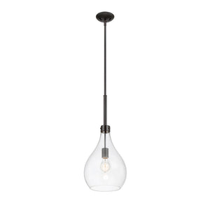 Pulaski 1 Light Mini Pendant  in Oiled Bronze Finish by Savoy House 7-804-1-02