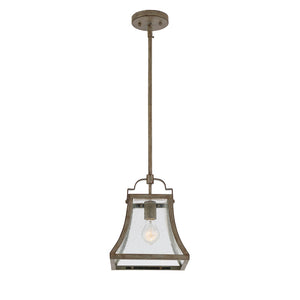 Belle 1 Light Mini Pendant  in Chateau Linen Finish by Savoy House 7-923-1-12