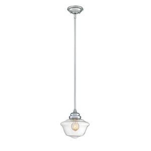 School House 1 Light Mini Pendant  in Polished Chrome Finish by Savoy House 7-9345-1-11