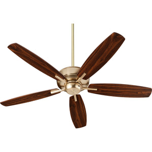 Breeze 0 Ceiling Fan in Aged Brass Finish 7052-80