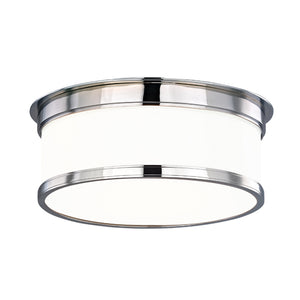Geneva 2 Light Flush Mount By Hudson Valley 712-PC in Polished Chrome Finish