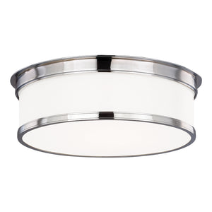 Geneva 3 Light Flush Mount By Hudson Valley 715-PC in Polished Chrome Finish