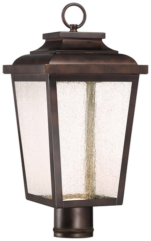 Irvington Manor 1 Light Outdoor Post Mount In Chelesa Bronze Finish by Minka Lavery 72176-189-L