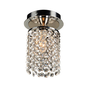 PLC Lighting 72191 PC Rigga Collection 1 Light Ceiling in Polished Chrome Finish
