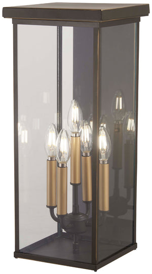 Casway 5 Light Outdoor Pendant In Oil Rubbed Bronze  Finish by Minka Lavery 72583-143C