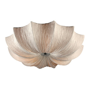 PLC Lighting 73064 IVORY Casa Collection 3 Light Ceiling in Polished Chrome Finish