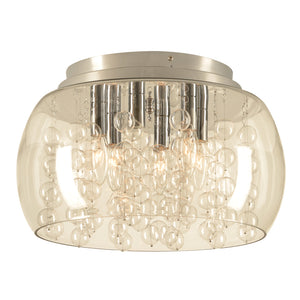 PLC Lighting 73068 PC Hydro Collection 6 Light Ceiling in Polished Chrome Finish