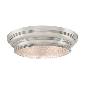 Woodstock 3 Light Flush Mount By Hudson Valley 7516-SN in Satin Nickel Finish