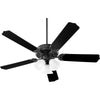 Capri X 3 Light Ceiling Fan in Matte Black Finish 7525-3059