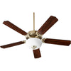 Capri VIII 2 Light Ceiling Fan in Aged Brass Finish 7525-9080