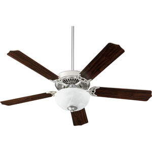 Capri VIII 2 Light Ceiling Fan in Satin Nickel w/ Faux Alabaster Finish 7525-9265