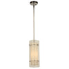 PLC Lighting 7580PC Duran Collection 1 Light Mini Pendant in Polished Chrome Finish