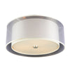 PLC Lighting 7676PCLED Daytona Collection 3 Light Ceiling Mount in Polished Chrome Finish