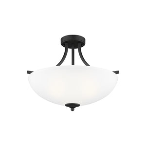 Geary 3 Light Ceiling Light in Blacksmith Finish by Sea Gull 7716503-839