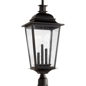 Pavilion 3 Light Post in Noir Finish 7732-3-69