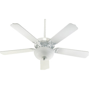 Capri III 2 Light Ceiling Fan in White Finish 77525-9206